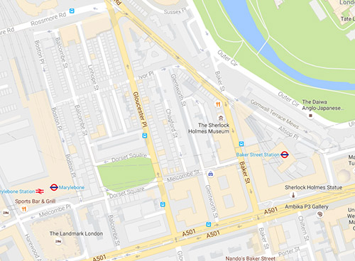 map for Mystic Massage parlour Central London